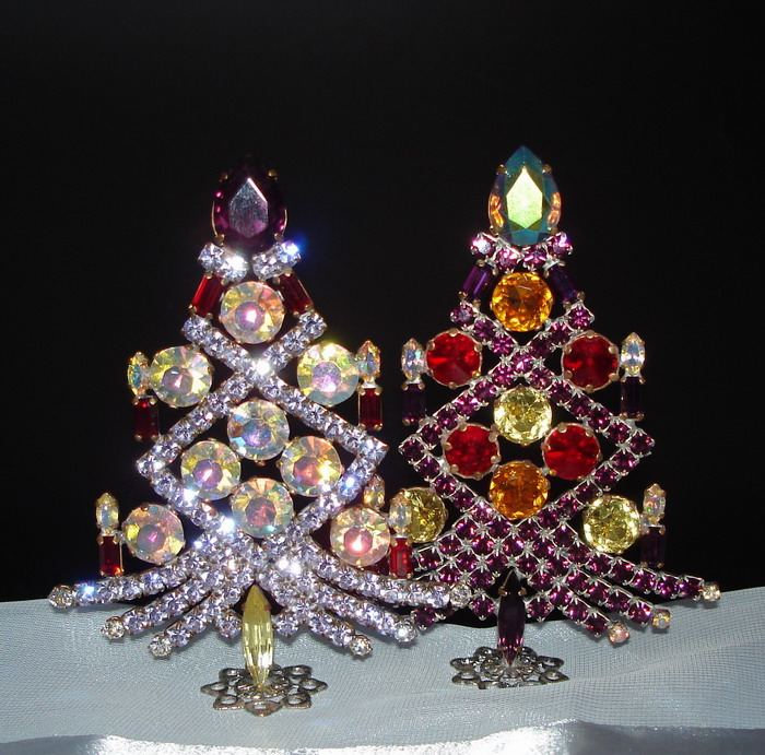 strass weihnachtsbaum amethyst lila unikat swb414. Black Bedroom Furniture Sets. Home Design Ideas